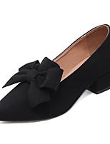 Недорогие -Жен. Полиуретан Весна На каждый день Обувь на каблуках Блочная пятка Черный