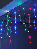 cheap -4m 96 LEDs Icicle Curtain Light can be Linkable to the String Light White  Blue  Warm White  Pink  Purple  Red  Yellow  Multi-color 220-240V 1pc
