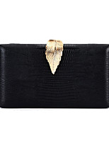 Недорогие -Жен. Мешки PU / Сплав Вечерняя сумочка Пуговицы Под крокодила Черный