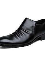 Недорогие -Муж. Официальная обувь Полиуретан Весна Деловые / Английский Туфли на шнуровке Водостойкий Черный / Свадьба