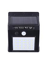 Недорогие -Brelong солнечный светодиодный настенный светильник ip65 водонепроницаемый трехсторонний с подсветкой датчик движения открытый забор гараж освещение человеческого тела индукция белый свет 30led 40led