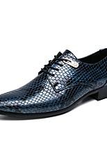 Недорогие -Муж. Официальная обувь Полиуретан Весна Деловые / Английский Туфли на шнуровке Водостойкий Черный / Синий / Свадьба / Для вечеринки / ужина