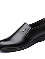 Недорогие -Муж. Комфортная обувь Искусственная кожа Осень / Весна лето Деловые / На каждый день Мокасины и Свитер Для прогулок Дышащий Черный
