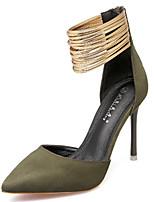 Недорогие -Жен. Искусственная кожа Весна & осень Обувь на каблуках Для прогулок На шпильке Заостренный носок Пурпурный / Зеленый / Вино