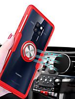 Недорогие -Кейс для Назначение Huawei Huawei Mate 20 Lite / Huawei Mate 20 Pro Кольца-держатели / Прозрачный Кейс на заднюю панель Однотонный Твердый Силикон для Mate 10 pro / Huawei Mate 20 lite / Huawei Mate