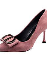 Недорогие -Жен. Полиуретан Весна Минимализм Обувь на каблуках На каблуке-рюмочке Заостренный носок Черный / Розовый