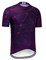 Недорогие -TELEYI Муж. С короткими рукавами Велокофты - Фиолетовый Велоспорт Джерси Верхняя часть Быстровысыхающий Виды спорта Терилен Горные велосипеды Шоссейные велосипеды Одежда / Слабоэластичная