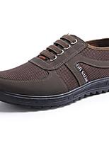 Недорогие -Муж. Комфортная обувь Полотно Весна & осень Мокасины и Свитер Кофейный / Темно-зеленый