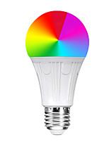 Недорогие -Умный дом ywxlight® 1шт e26 Лампа Wi-Fi RGB 11 Вт 800-900lm AC 85-265 В Светодиодные диммеры Цветные лампочки Работа с пультом дистанционного управления Алекса Google Home App