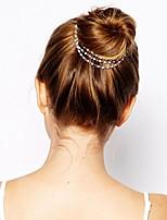 Недорогие -Искусственный жемчуг / Сплав Аксессуары для волос с Кристаллы 1 шт. Особые случаи / На каждый день Заставка