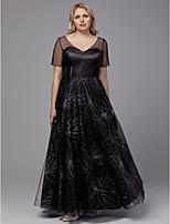 Недорогие -А-силуэт V-образный вырез В пол Тюль Торжественное мероприятие Платье с Кристаллы от TS Couture®