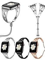 Недорогие -Ремешок для часов для Apple Watch Series 4/3/2/1 Apple Дизайн украшения Нержавеющая сталь Повязка на запястье