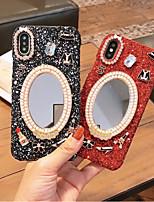 Недорогие -Кейс для Назначение Apple iPhone XS Max / iPhone 6 Сияние и блеск Кейс на заднюю панель Сияние и блеск Твердый Акрил для iPhone XS / iPhone XR / iPhone XS Max