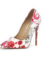Недорогие -Жен. Искусственная кожа Весна лето Обувь на каблуках На шпильке Заостренный носок Белый / Черный / Красный