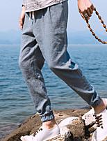 Недорогие -Муж. Гарем Брюки-штаны Сплетенные брюки Черный Небесно-голубой Серый Виды спорта Сплошной цвет Брюки Нижняя часть Тренировка в тренажерном зале Большие размеры Спортивная одежда / Слабоэластичная