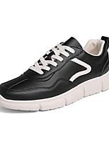 Недорогие -Муж. Комфортная обувь Полиуретан Весна На каждый день Кеды Нескользкий Белый / Бежевый / Черно-белый
