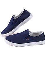 Недорогие -Муж. Комфортная обувь Полотно Лето Мокасины и Свитер Черный / Синий