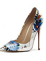 Недорогие -Жен. Искусственная кожа Весна лето Обувь на каблуках На шпильке Заостренный носок Белый
