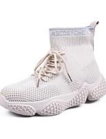 Недорогие -Жен. Tissage Volant Весна Ботинки На плоской подошве Ботинки Черный / Бежевый