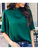 Недорогие -Жен. Блуза Тонкие Однотонный