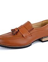Недорогие -Муж. Комфортная обувь Микроволокно Весна & осень Туфли на шнуровке Черный / Темно-русый