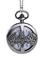 Недорогие -Муж. Карманные часы Кварцевый Старинный Бронза С гравировкой Творчество Новый дизайн Аналого-цифровые Винтаж - Серебро + серый