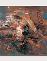 Недорогие -Hang-роспись маслом Ручная роспись - Абстракция Пейзаж Классика Modern Без внутренней части рамки