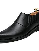 Недорогие -Муж. Комфортная обувь Полиуретан Весна На каждый день Мокасины и Свитер Нескользкий Черный / Серый / Коричневый