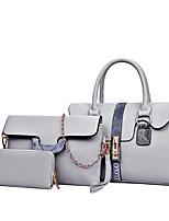 cheap -Women's Zipper PU Bag Set Color Block 3 Pcs Purse Set Black / Brown / Red / Snakeskin