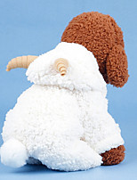 Недорогие -Собаки Коты Костюмы Плащи Одежда для собак Однотонный Белый Хлопок Костюм Назначение Мопс Бишон Фриз шнауцер Осень Зима Универсальные На каждый день Наколенники
