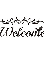 cheap -Welcome Door Wall Stickers Home Decoration Bedroom Wall Mural Art Vinyl Removable Wall Decal Interior Door Decor