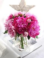 Недорогие -Искусственные Цветы 1 Филиал Односпальный комплект (Ш 150 x Д 200 см) Modern Пастораль Стиль Пионы Букеты на стол