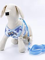 Недорогие -Собаки Коты Ремни Поводки Компактность Складной Камуфляж Полиэстер Зеленый Синий Розовый