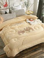 Недорогие -удобный - 1 одеяло Зима Полиэстер Однотонный