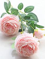 Недорогие -Искусственные Цветы 1 Филиал Односпальный комплект (Ш 150 x Д 200 см) Свадьба европейский Розы Букеты на стол
