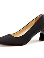 Недорогие -Жен. Полиуретан Весна Обувь на каблуках На толстом каблуке Черный / Желтый