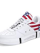 Недорогие -Муж. Комфортная обувь Кожа Весна Кеды Белый / Черный