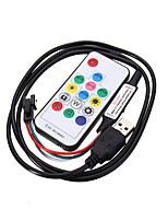 Недорогие -USB 3 кнопки управления диммером для dc5v ws2812 светодиодный модуль пикселей полосы света с разъемом JST RF 14key USB контроллер ws2812b