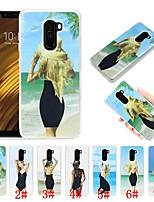 Недорогие -Кейс для Назначение Xiaomi Xiaomi Pocophone F1 Защита от удара / Движущаяся жидкость / Ультратонкий Кейс на заднюю панель Соблазнительная девушка Мягкий ТПУ для Xiaomi Pocophone F1