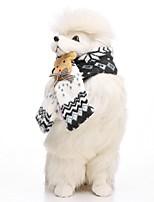 Недорогие -Собаки Шарф для собаки Одежда для собак Персонажи Синий Розовый Хаки 100%коралловый флис Костюм Назначение Бульдог Мопс Бишон Фриз Осень Зима Мужской Сохраняет тепло Бижутерия