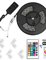 Недорогие -KWB 5 метров Наборы ламп / RGB ленты / Интеллектуальные огни 300 светодиоды SMD5050 1 монтажный кронштейн RGB Контроль APP / Творчество / Можно резать 5 V 1 комплект