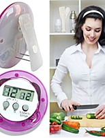 Недорогие -ABS Kitchen Timer Цифровой ЖК-дисплей Кухонная утварь Инструменты Необычные гаджеты для кухни