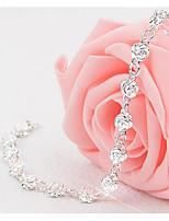 Недорогие -Жен. геометрический Браслеты-цепочки и звенья Цветы Милая Мода Браслеты Бижутерия Серебряный Назначение Свадьба На выход