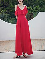 Недорогие -Жен. Элегантный стиль Оболочка Платье - Однотонный Макси