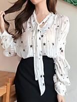 Недорогие -Жен. Блуза V-образный вырез Геометрический принт