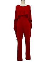 Недорогие -Жен. Классический Красный Винный Тёмно-синий Комбинезоны, Однотонный M L XL