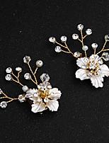 cheap -Wedding / Daily Wear Party Accessories Buckle Rhinestone / Pearl / Flower Alloy Flower