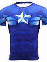 Недорогие -Муж. Укороченный топ для бега 3D-печати Бег Фитнес Верхняя часть Спортивная одежда Быстровысыхающий Эластичность