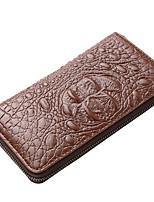 Недорогие -Универсальные Мешки PU Бумажники Геометрический рисунок Черный / Хаки