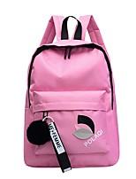 Недорогие -Жен. Мешки Нейлон / PU рюкзак Молнии Сплошной цвет Черный / Розовый / Серый